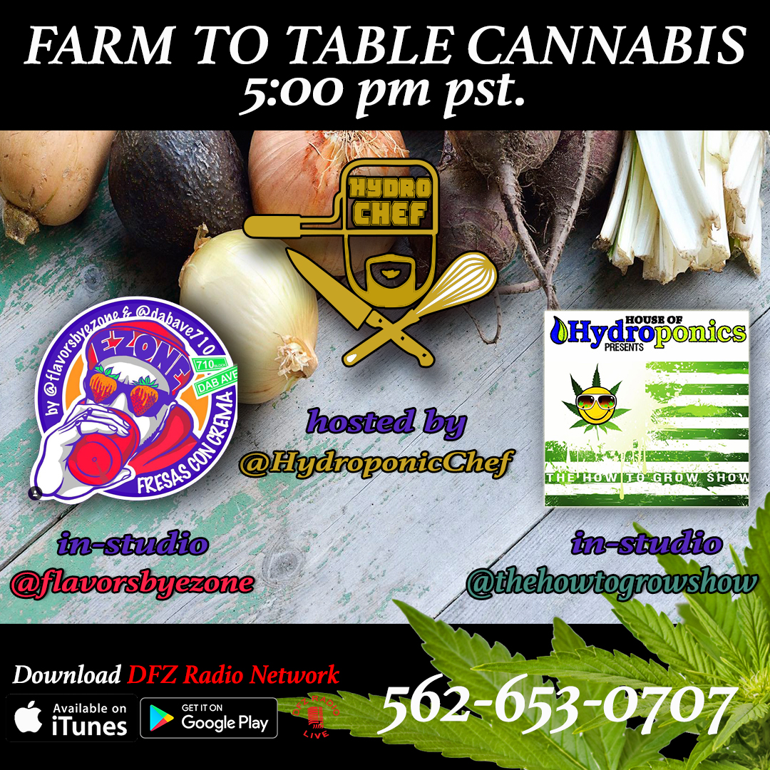 Farm To Table Cannabis Ep # 9 W/ Ezone @flavorsbyezone And @howtogrowshow 8-22-17