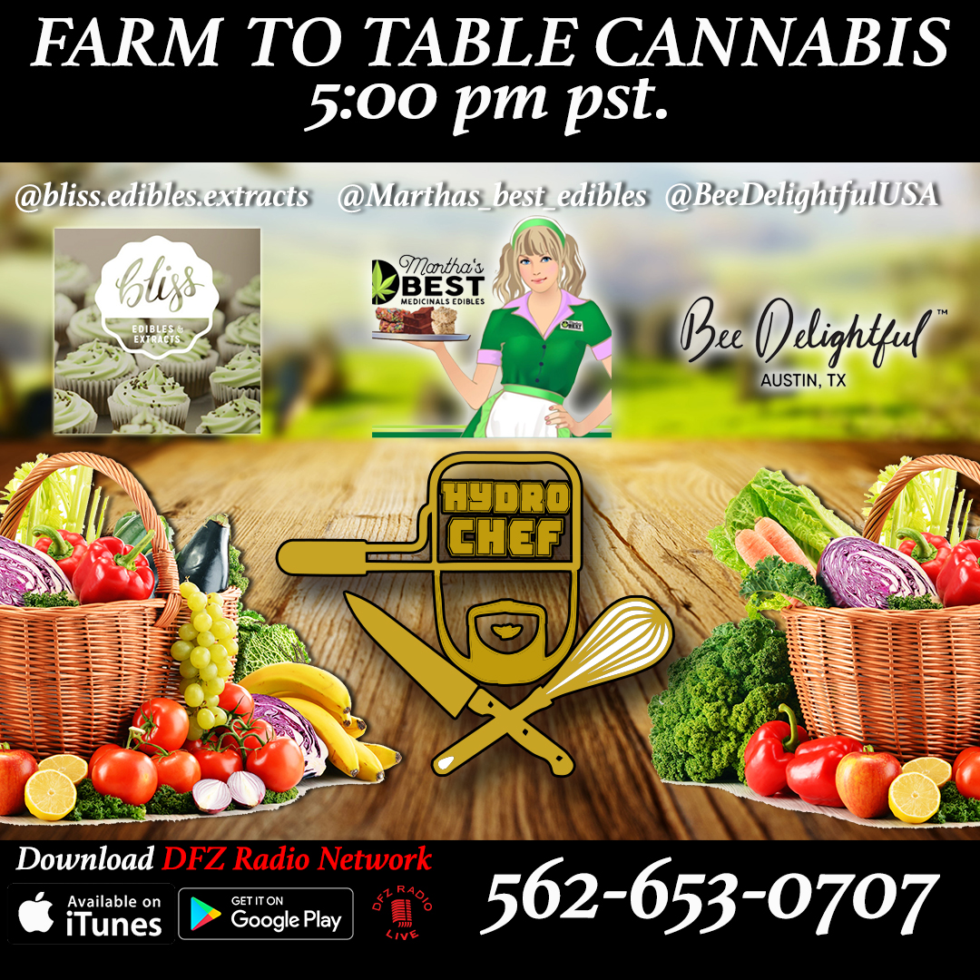Farm To Table Cannabis Ep # 8 W/ Bliss Edibles Extracts, Marthas Best Edibles, @BeeDelightfulUSA 8-15-17