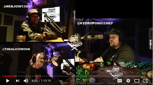 5-1-2018 Farm To Table Cannabis W The Hydroponic Chef And Alice Moon In-studio W/ Web Joint CEO